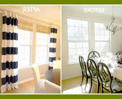 cool navy and white striped curtains for your cozy interior rooms