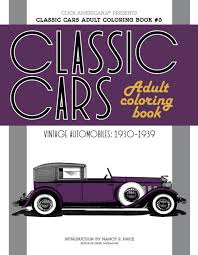 Classic Cars Adult Coloring Book Series