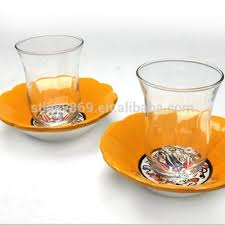 Wholesale Glass Turkish Tea Cups Coffee Crystal Machine Blow On Sale With