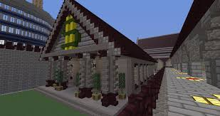 A City Has To Have A Bank   <>-Minecraft-<>   Pinterest ... Minecraft Gaming Xbox Xbox360 Pc House Home Creative Mode Mojang Cool House Ideas Xbox 360 Tremendous 32 On Home Lets Build A Barn Ep1 One Edition Youtube Fire Station Tutorial 1 Minecraft Horse Stable Google Search Pinterest Mansion Part And Silo Part 4 How To Make