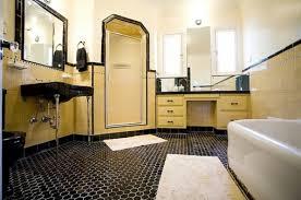 black vintage hexagonal bathroom floor tile flooring ideas
