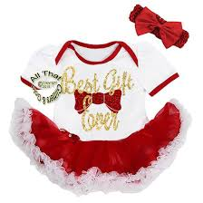 christmas for baby cute glitter best gift ever tutu