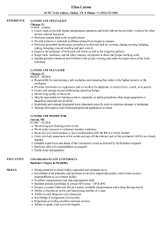 Download Landscape Resume Sample As Image File