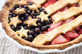 This paleo American flag pie is the absolute perfect paleo 4th of July dessert Full