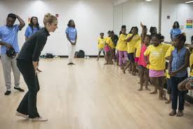ballerina star michele wiles visits bed stuy ymca the brooklyn