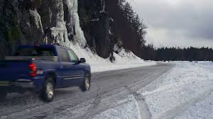 100 Skid Truck Pickup Controlled On Snowy Winter Road Stock Video