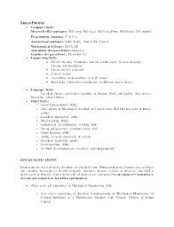 Communication Skills Resume Example Sample Good Examples