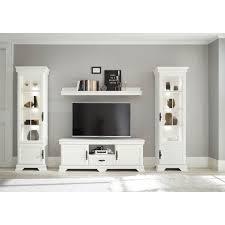 home affaire wohnzimmer set royal 4 tlg bestehend aus 2 vitrinen 1 lowboard und 1 wandboard exclusiv design im landhausstil