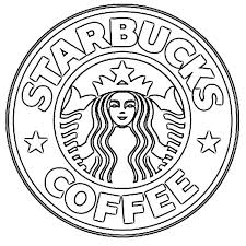 Coffee Logo Starbucks Coloring Page Printable Download