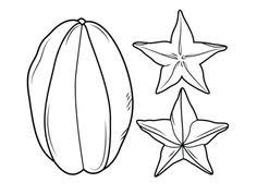 Carambola Or Star Fruit Coloring Page From Category Select 26307 Printable Crafts