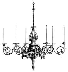 Victorian Chandeliers Free Vintage Clip Art