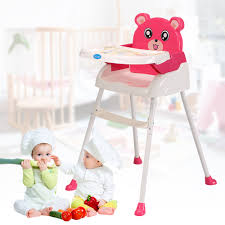 Foldable Baby High Chair Highchair Height Adjustable Feeding Seat Pink 4 In  1 | EBay