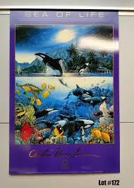 100 Christian Lassen Prints Qty 5 Sea Of Life By Paper 16X24