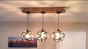 reclaimed pallet light fixture