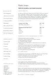 Resume Template For Administrative Position Office Administrator