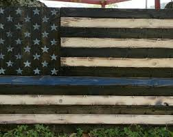 Thin Any Color Line Rustic American Flag