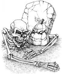 Skeleton More Coloring Pages Halloween