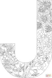 Click The Letter J With Plants Coloring Pages To View Printable Version Or Color It Online Compatible IPad And Android Tablets