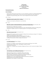 Chef Resume Objective Examples For Pastry