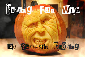 Cute Carved Pumpkins Faces by Having Fun With 3 D Pumpkin Carving Halloween Fun Youtube