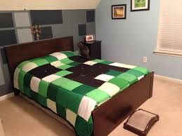 Minecraft bedding I would do the walls in a different color but