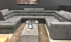 canape d angle avec grande meridienne canapé d angle design panoramique confortable haut de gamme cuir