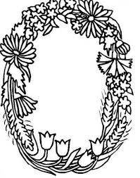 Alphabet Flowers Letter O Coloring Pages