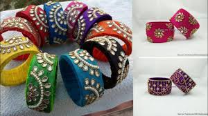 Handmade Bangles Design IdeasSilk Thread Ideas For Indian WearKundan Bangle