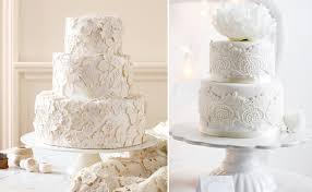 Lace And Burlap Wedding Decor Realistic Cake