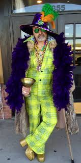 70s Retro Huggy Bear Outfit Leisure Suit Mardi Gras Disco King Vintage Clothing Accessories In Stock Dallas