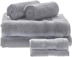 idesign 6er set badtextilien für das badezimmer oder gäste wc weiches handtücherset aus 100 baumwolle handtuch set mit je 2 handtüchern