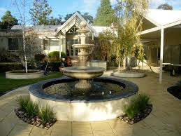Outdoor And Patio: Unique Backyard Pond Ideas Combined With Stone ... Tiles Exterior Wall Tile Design Ideas Garden Patio With Wooden Pattern Fence And Outdoor Patterns For Curtains New Large Grey Stone Patio With Brown Wooden Wall And Roof Tile Ideas Stone Designs Home Id Like Something This In My Backyard Google Image Result House So When Guests Enter Through A Green Landscape Enhancing Magnificent Hgtv Can Thi Sslate Be Used