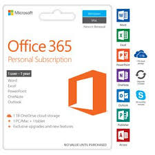 Microsoft fice 365 Personal 1 Device 12 Months Download
