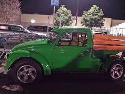 Old VW Beetle Chopped And Converted Into A Pickup Truck ...