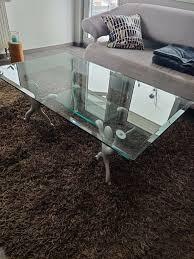 designer glastisch für wohnzimmer keith haring couchtisch