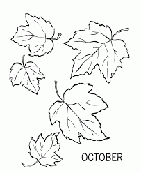 october fall leaves coloring page october fall leaves coloring
