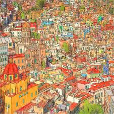 Coloured In Illustration Of Rome From Our Fantastic Cities Colouring Book For Adults