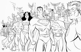 Printable Amazing Superheroes All In One Coloring Page For Boys