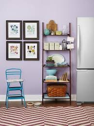 Decorating Bookshelves In Family Room by 5 Ways To Use A Ladder Shelf Hgtv