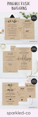 Affordable DIY Rustic Wedding Invitations