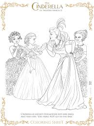 Cinderella Coloring Book Pages 2015 Pdf Full Size