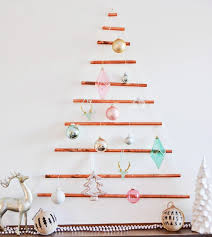 DIY Modern Wall Mounted Copper Pipe Christmas Tree