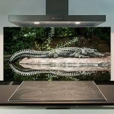 kissenbezug krokodil freundlich dschungel design mandala