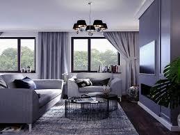 vorhänge wohnzimmer modern
