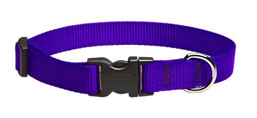 "Lupine Dog Collar Nylon - Purple, 3/4"", 3 Size"