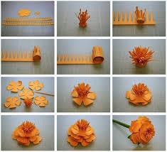 Paper Handicraft Flower Step By Craft Flowers Making Find Ideas