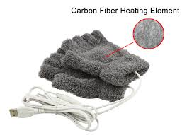 mh 1000g usb warming gloves with carbon fiber heating elements