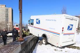 100 Truck Slides Postal Truck Slides On Ice Ends Up On Wall