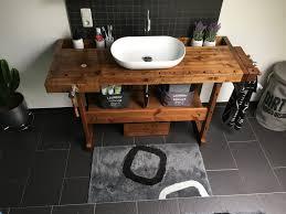 werkbank waschtisch rustikale bad eitelkeiten waschtisch