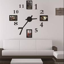 Photo Frame Wall Clock Modern DesignLarge Digital Decorative Sticker Home Decoration Art Unique Gift W118 Big For Oversized